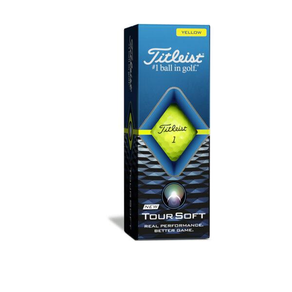 Titleist Tour Soft Yellow Golfballen Bedrukken