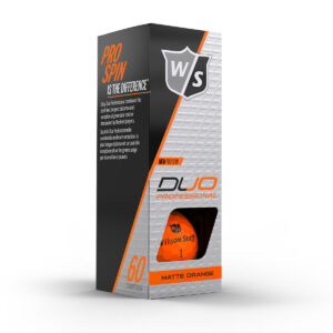 Wilson DUO Professional orange Golfballen Bedrukken