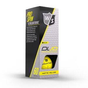 Wilson DUO Professional yellow Golfballen Bedrukken