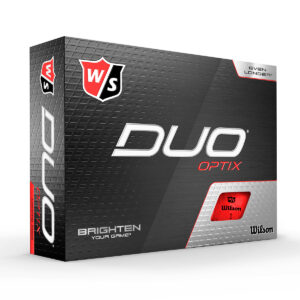 Wilson Duo Optix Red Golfballen Bedrukken