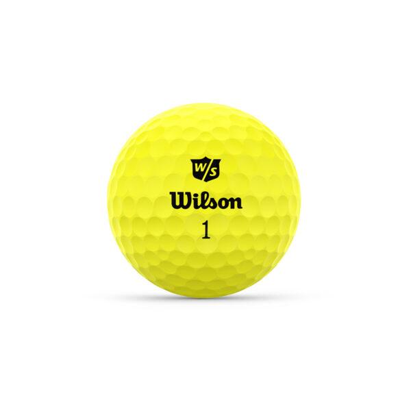 Wilson Duo Optix Yellow Golfballen Bedrukken