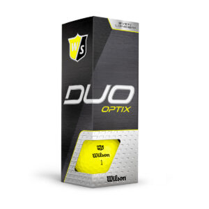 Wilson Duo Optix Yellow Golfballen Bedrukken