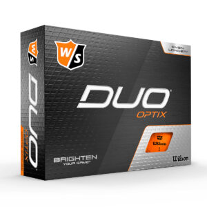 Wilson Duo Optix Orange Golfballen Bedrukken