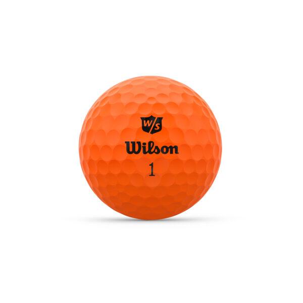 Wilson Duo Optix Orange Golfballen Bedrukken