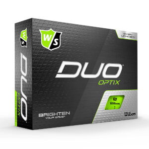 Wilson Duo Optix Green Golfballen Bedrukken